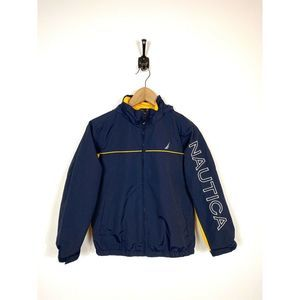 Boys Nautica J Class Spell Out Rain Jacket Small 8